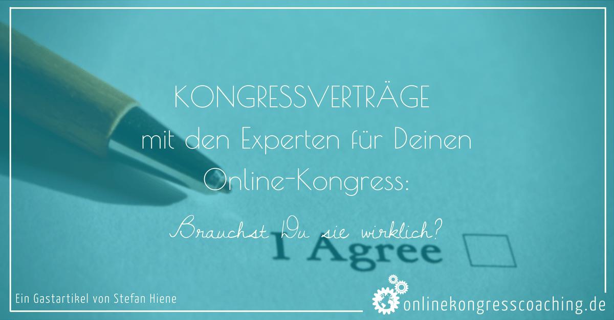 Beitragsbild Kongressverträge mit den Experten