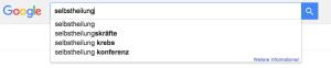 Suchmaschinenoptimierung Autovervollständigung von Google
