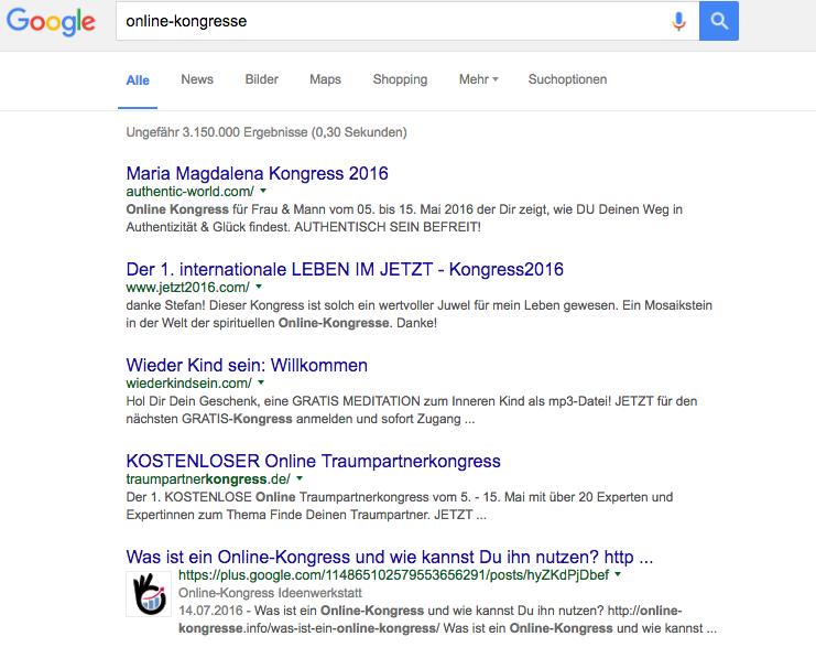 Suchmaschinenoptimierung GooglePlus