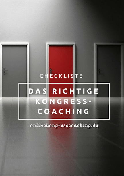 Kongresscoaching Checkliste