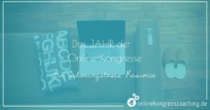 Beitragsbild Jahr der Online-Kongresse