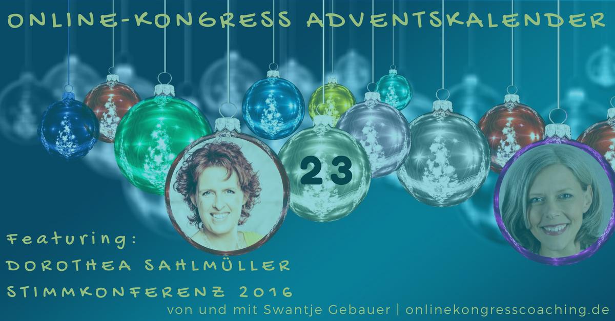 Beitragsbild Online-Kongress Dorothea Sahlmüller