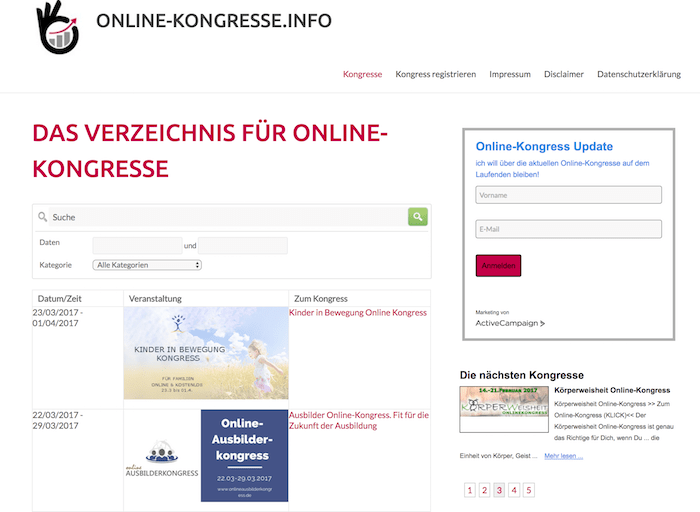 Kongress-Marketing onlinekongresscoaching.de