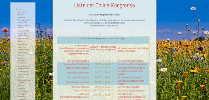 Kongress-Marketing Online-Kongresse finden