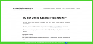Kongress-Marketing Mein Online-Kongress
