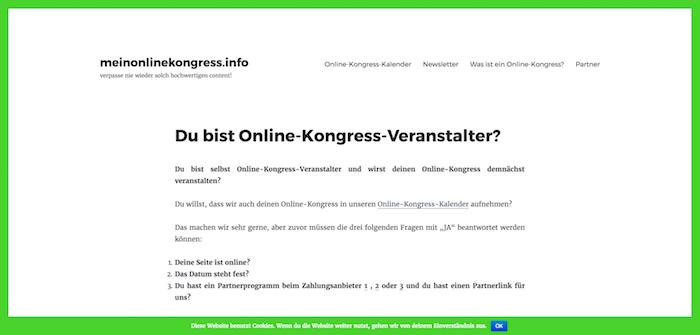 Kongress-Marketing Mein Online-Kongress