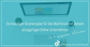 Businessplan in 4 Schritten Beitragsbild